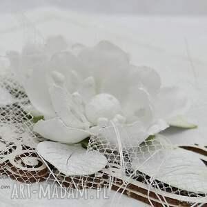 kolorowe scrapbooking kartki ślub delikatna ślubna biel - z