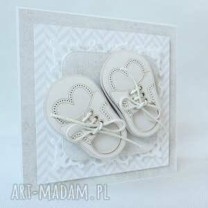 białe scrapbooking kartki narodziny dla chłopca