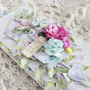 imieniny scrapbooking kartki różowe dla ciebie, kartka w pudełku, 616
