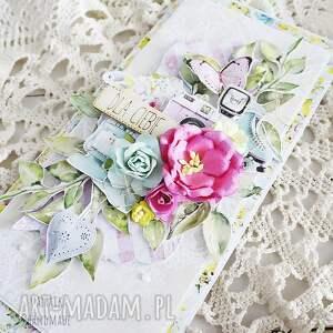 turkusowe scrapbooking kartki urodziny dla ciebie, kartka w pudełku, 616