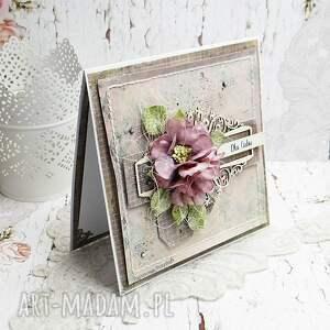 scrapbooking kartki fioletowe dla ciebie - kartka z