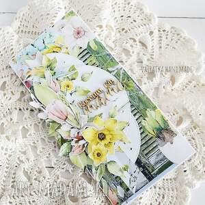 żółte scrapbooking kartki mamie dla mamy, kartka w pudełku, 614