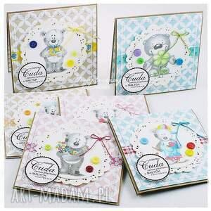 scrapbooking kartki narodziny dziecięca kartka z misiem #5