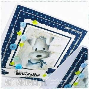 roczek scrapbooking kartki dziecięca kartka z pieskiem