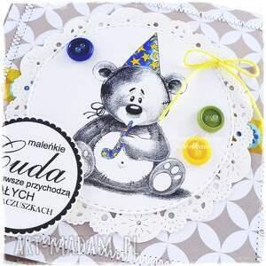 efektowne scrapbooking kartki urodziny dziecięca kartka z misiem #9