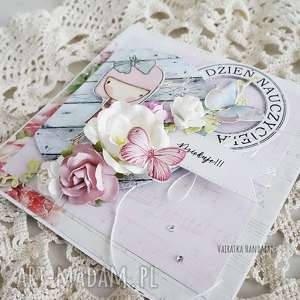 scrapbooking kartki dzień nauczyciela - kartka