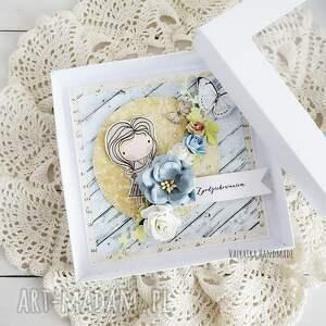 niebieskie scrapbooking kartki podziękowanie dzień nauczyciela - kartka
