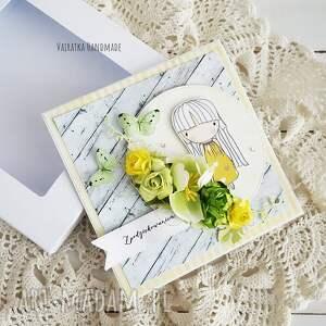 żółte scrapbooking kartki podziękowanie dzień nauczyciela - kartka