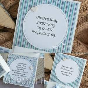 modne scrapbooking kartki chrzest eksplodujące pudełeczko - narodziny