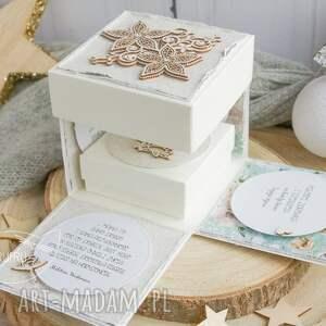 ślub scrapbooking kartki turkusowe eksplodujące pudełeczko