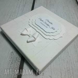 ręcznie zrobione scrapbooking kartki pamiątka elegancka chrztu świętego