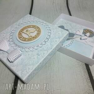 białe scrapbooking kartki balon elegancki zestaw - pamiątka