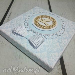 scrapbooking kartki pudełko elegancki zestaw - pamiątka