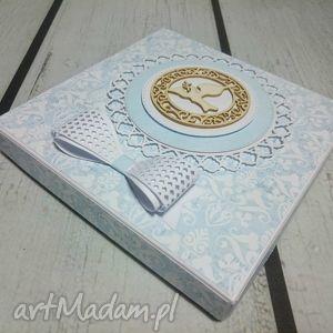 scrapbooking kartki pudełko elegancki zestaw - pamiątka ze