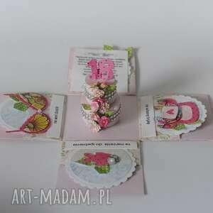 scrapbooking kartki eplodingg box 18 urodziny