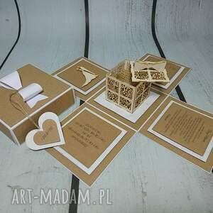 scrapbooking kartki komunia exploding box / eksplodujące