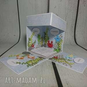 wędkarz scrapbooking kartki exploding box / eksplodujące