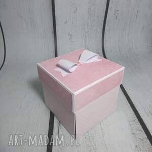 niesztampowe scrapbooking kartki komunia exploding box / eksplodujące
