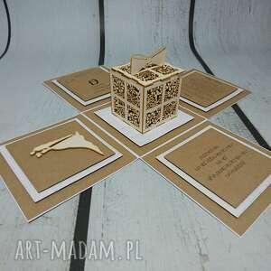 hand made scrapbooking kartki komunia exploding box / eksplodujące