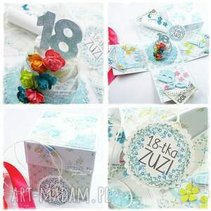 tort scrapbooking kartki exploding box - na 18 urodziny