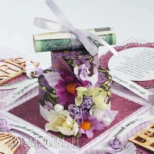 awangardowe scrapbooking kartki pudełko exploding box - pamiątka ślubu tort