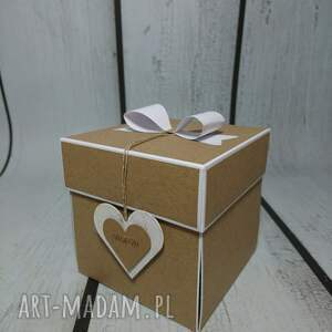 hand made scrapbooking kartki ślub exploding box / eksplodujące