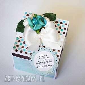 scrapbooking kartki pudełko exploding box - pamiątka ślubu tort