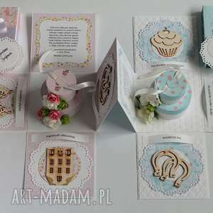 pudełko scrapbooking kartki exploding box - pamiątka ślubu