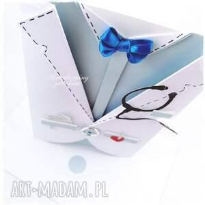 handmade scrapbooking kartki lekarz fartuch lekarski - kartka dla niego