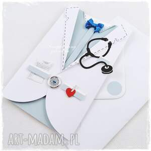 jelonkaa Fartuch lekarski - kartka dla niego - mucha serce