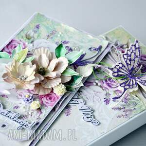 awangardowe scrapbooking kartki gratulacje dla młodej pary - kartka