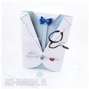 handmade scrapbooking kartki recepta projekt autorski. kartka dla lekarza. idealna