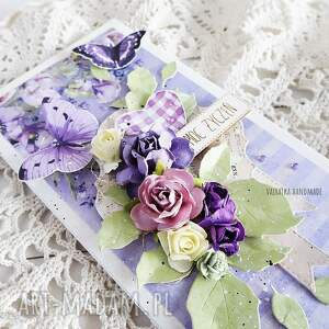 scrapbooking kartki fioletowe kartka urodzinowa/imieninowa, 543