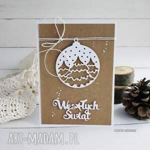 święta prezenty kartka świąteczna eco, wzór