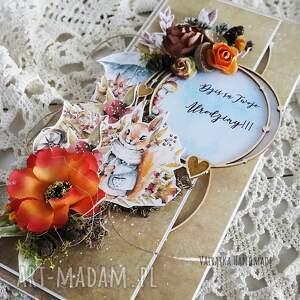 pomarańczowe scrapbooking kartki urodziny jesienna kartka urodzinowa, 500