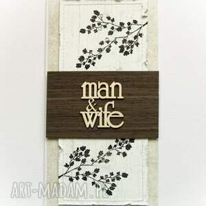 unikatowe scrapbooking kartki kartka jesienna ślubna
