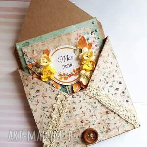 jesień scrapbooking kartki pomarańczowe jesienne urodziny - kartka