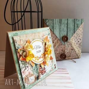 modne scrapbooking kartki jesień jesienne urodziny - kartka