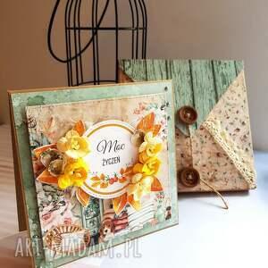 zielone scrapbooking kartki kartka jesienne urodziny