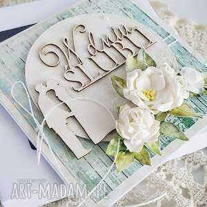turkusowe scrapbooking kartki ślub karta ślubna, 467