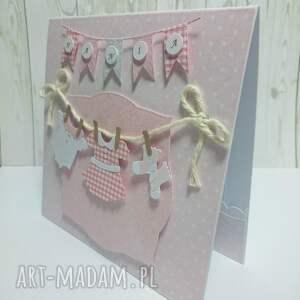 ręcznie zrobione scrapbooking kartki urodziny karta z maluszkowym ciuszkiem w
