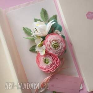 Karteczki 3D - prezent flowers