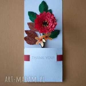 Mira flowers93 scrapbooking kartki: Karteczki 3D na podziękowania