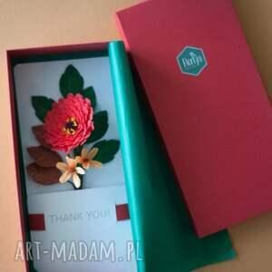 karteczki scrapbooking kartki 3d na podziękowania
