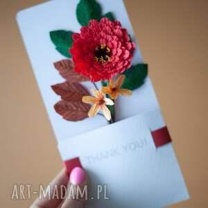 Mira flowers93 intrygujące scrapbooking kartki podziękować karteczki 3d na podziękowania