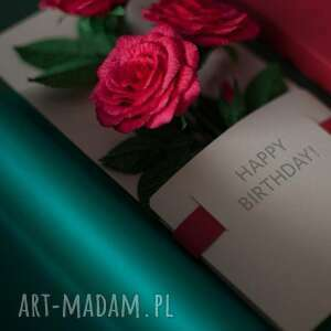 karteczki scrapbooking kartki 3d na prezent urodzinowy