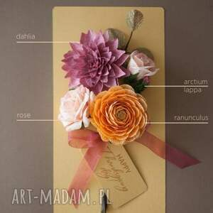 Mira flowers93 handmade scrapbooking kartki super karteczki 3d na prezent