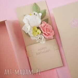 urodziny scrapbooking kartki karteczki 3d w pudełku