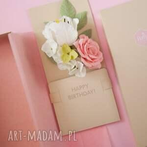 scrapbooking kartki urodziny karteczki 3d w pudełku