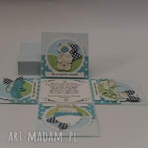 wyjątkowe scrapbooking kartki kartka box pudełko chrzest